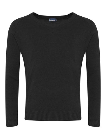 Black CKL V-Neck Jumper