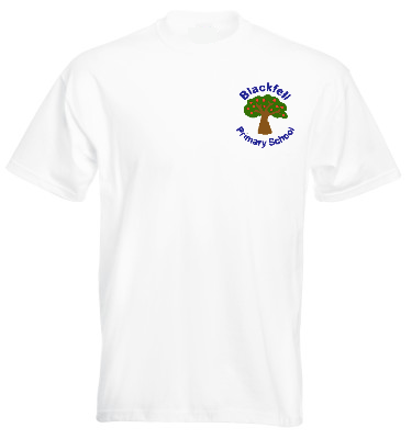 Blackfell Primary School White P.E. T-Shirt