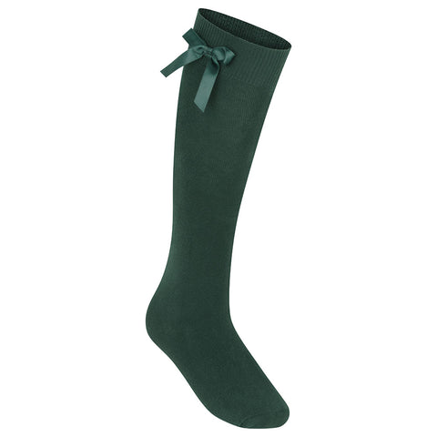 Bottle Green Zeco Bow Socks