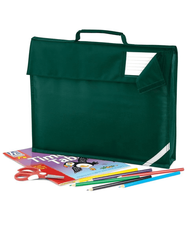 Hill View Academy - Sunderland Bottle Green Book Bag