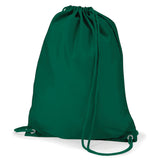 Bottle Green Quadra Draw String Gym Bag