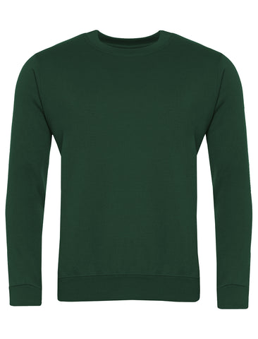 Bottle Green Plain Sweatshirt