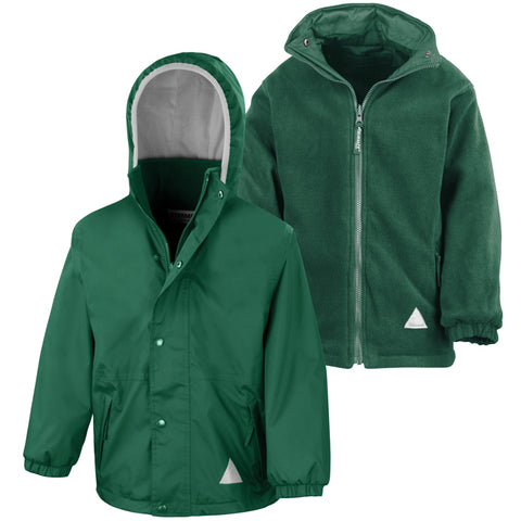 Hill View Academy - Sunderland Bottle Green Waterproof Coat