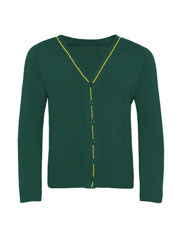 St Michael's R.C. Primary School - Newcastle Bottle Green with Gold Stripe Cardigan