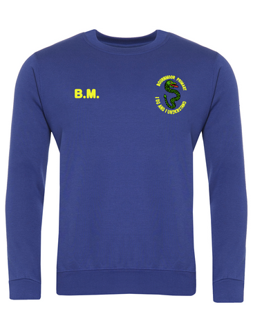 Bournmoor Primary School Royal Blue Sweatshirt With Initials
