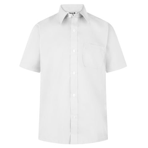 Pack of 2, Boys White Short Sleeve Shirts (Year 10 & 11)