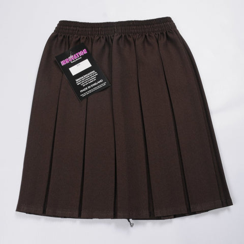 Brown Box Pleated Skirt