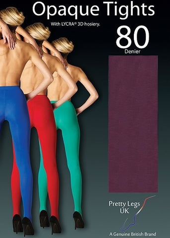 Burgundy 80 Denier Tights