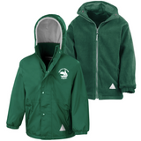 Cestria Primary School Bottle Green Waterproof Coat