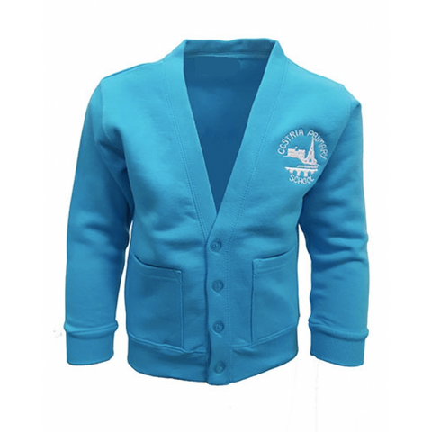 Cestria Primary School Hawaiian Blue Cardigan