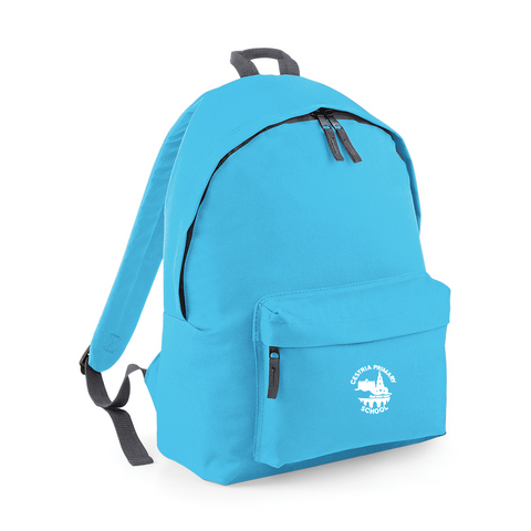 Cestria Primary School Surf Blue/Graphite Grey Back Pack