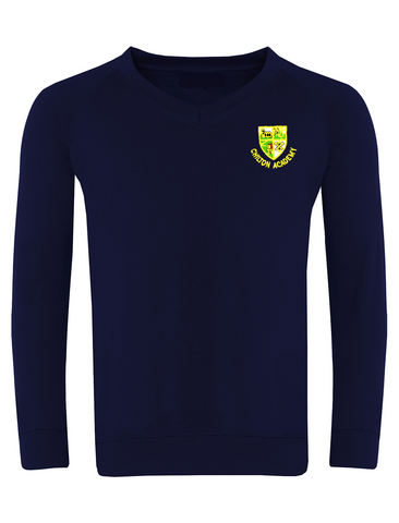 Chilton Academy Navy V-Neck Sweatshirt