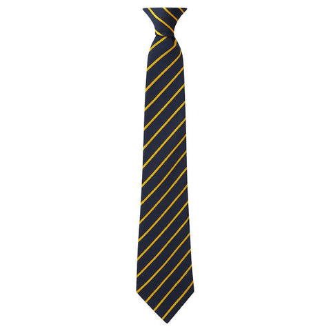 Chilton Academy Gold & Navy Clip-On Tie