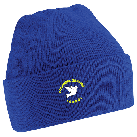 Columbia Grange School Royal Blue Knitted Hat