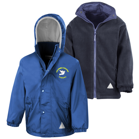 Columbia Grange School Royal Blue Waterproof Coat