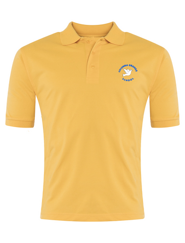 Columbia Grange School Yellow Polo