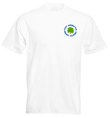 East Herrington Primary Academy White P.E. T-Shirt