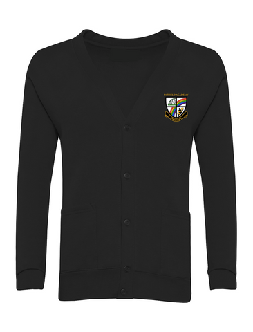 Fatfield Academy Black Cardigan