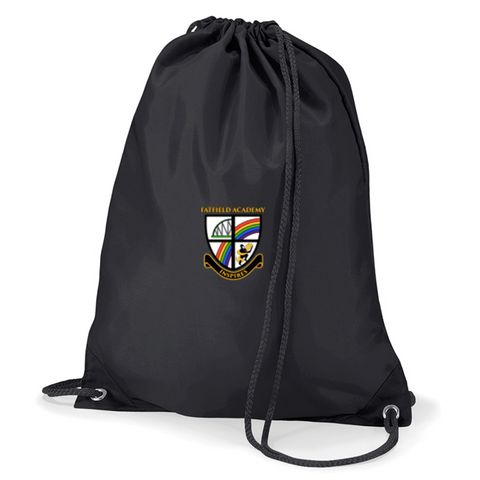 Fatfield Academy Black Gym Bag