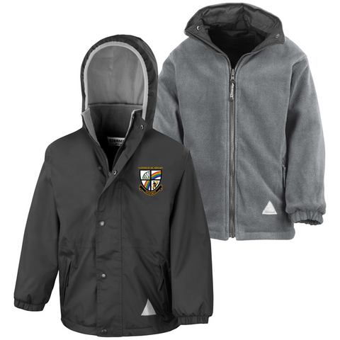 Fatfield Academy Black Waterproof Coat