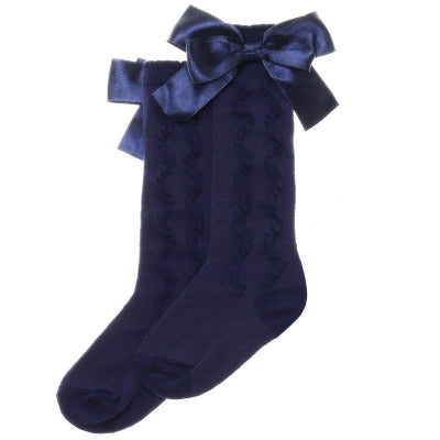 Navy Knee Length Sock