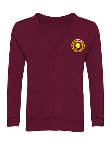 George Washington Primary School Maroon Cardigan