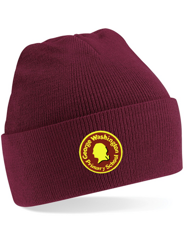 George Washington Primary School Maroon Knitted Hat