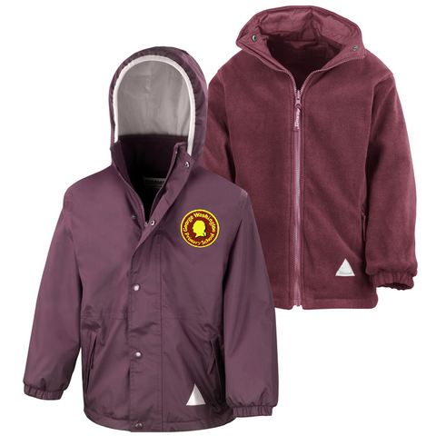George Washington Primary School Maroon Waterproof Coat
