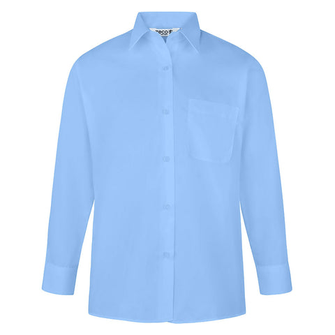 Pack of 2, Girls Blue Long Sleeve Blouses (Year 7 - 9)