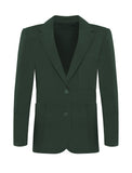 Plain Bottle Green Blazer