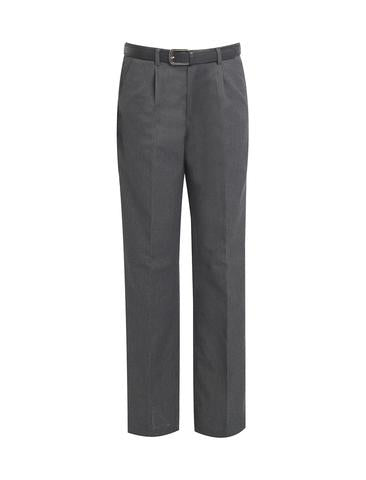 Boy's Grey Leg Length School Trousers