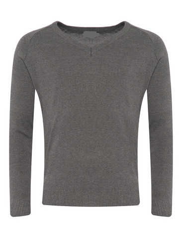 Wellfield School in Wingate, County Durham Grey V-Neck Jumper