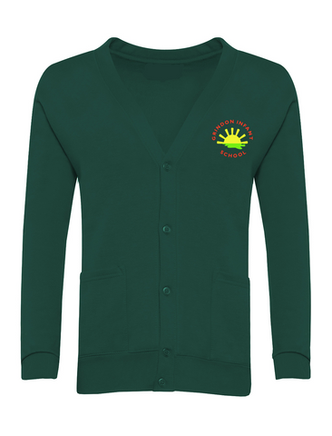 Grindon Infant School Bottle Green Cardigan