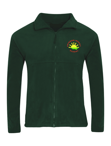 Grindon Infant School Bottle Green Fleece Jacket