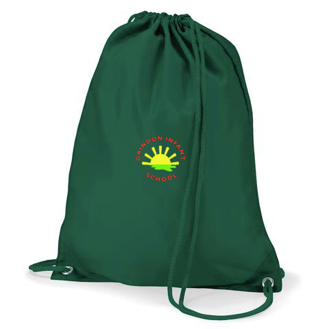 Grindon Infant School Bottle Green Gym Bag