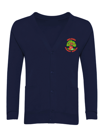 Hesleden Primary School Navy Cardigan