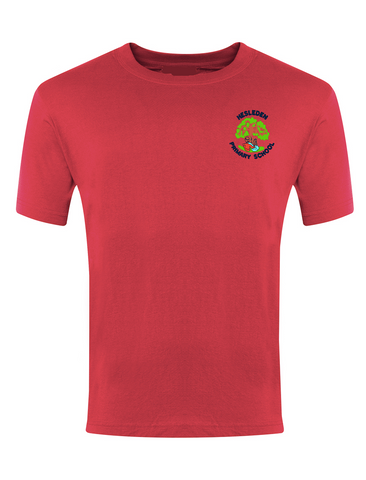 Hesleden Primary School Red P.E. T-Shirt