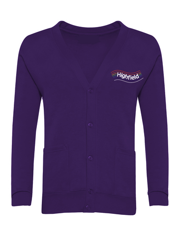 Highfield Academy Purple Cardigan (Nursery - Year 4)