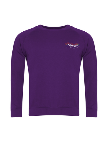 Highfield Academy Purple Sweatshirt (Nursery - Year 4)