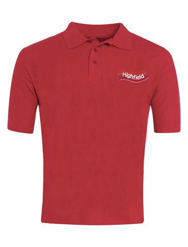 Highfield Academy Red Polo (Nursery - Year 4)