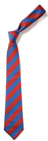 Holley Park Academy Red/Royal Blue Straight Tie