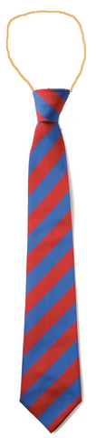Holley Park Academy Red/Royal Blue Elastic Tie