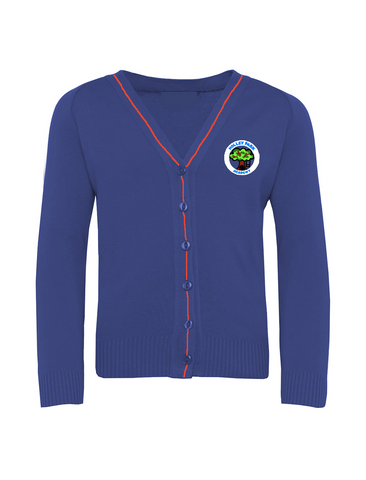 Holley Park Academy Royal Blue with Red Stripe Cardigan