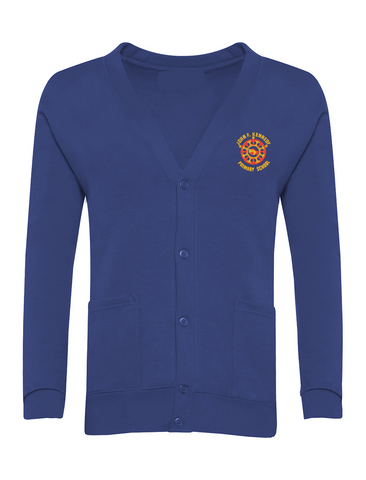 John F Kennedy Primary School Royal Blue Cardigan