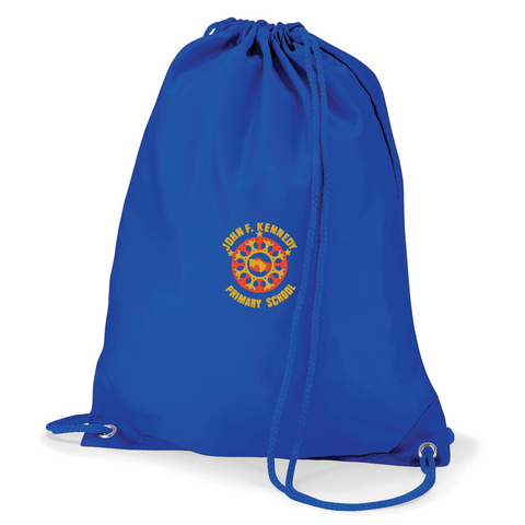 John F Kennedy Primary School Royal Blue Gym Bag
