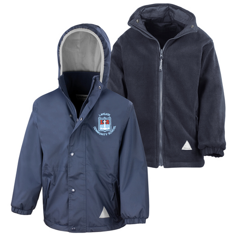 Laygate Community School Navy Waterproof Coat