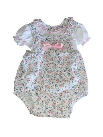 Little Nosh Girls Flower Romper