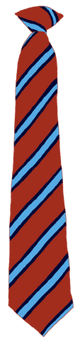 Lord Lawson Of Beamish Academy Brookside/Blue Stripe Clip On Tie