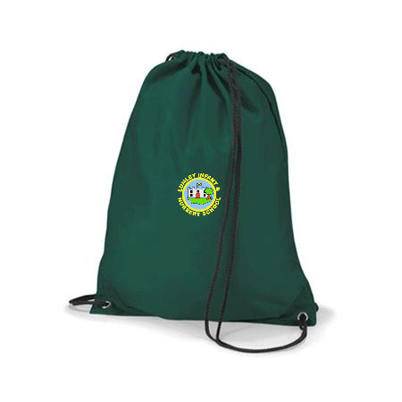 Lumley Infant & Nursery School Bottle Green Gym Bag