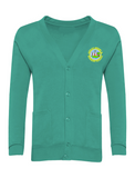 Lumley Infant & Nursery School Jade Green Cardigan